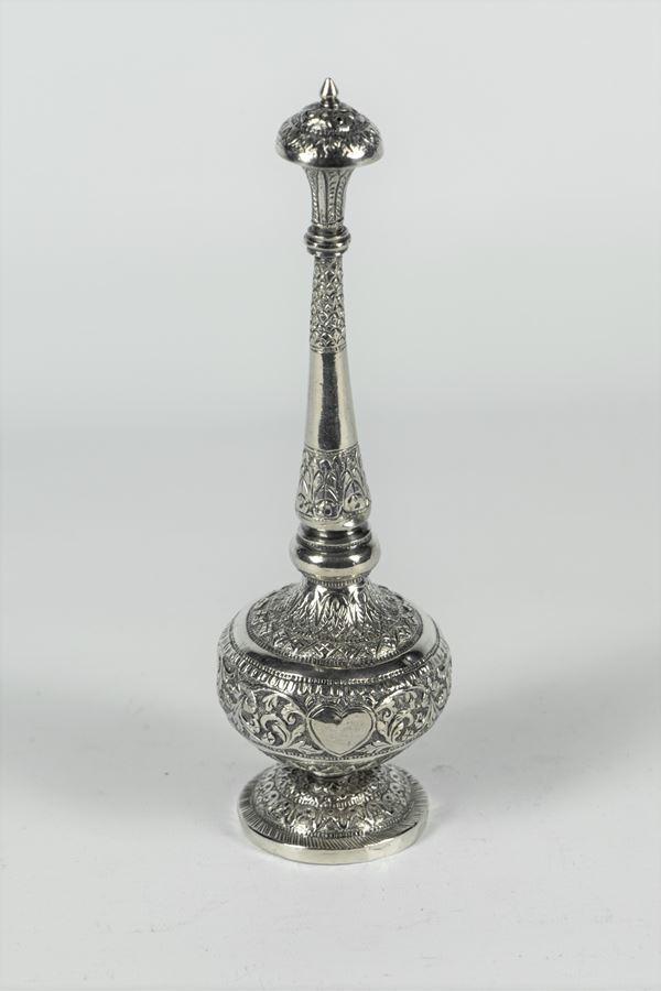 Oriental perfume burner in silver
