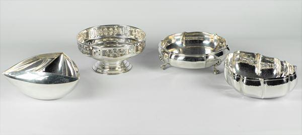 Quattro Portabonbon in argento