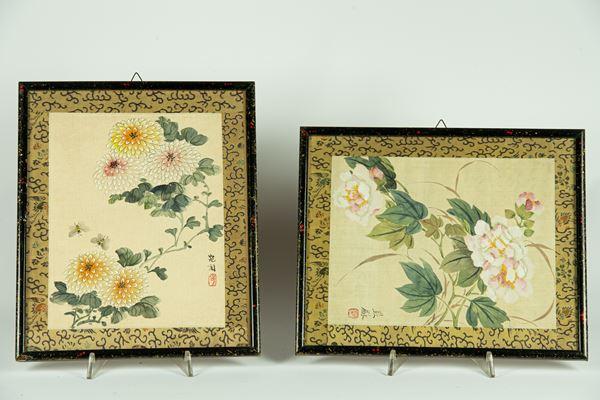 2 Chinese designs on silk